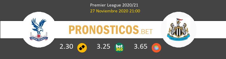 Crystal Palace vs Newcastle Pronostico (27 Nov 2020) 1