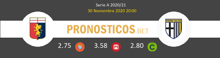 Genova vs Parma Pronostico (30 Nov 2020) 1