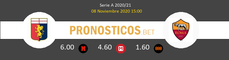 Genova vs Roma Pronostico (8 Nov 2020) 1