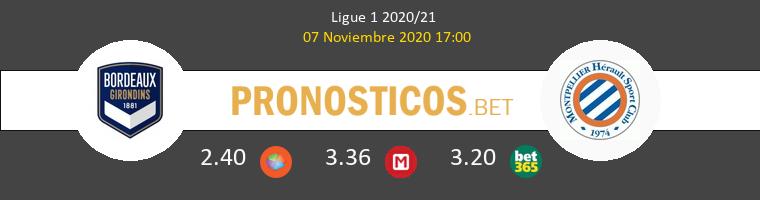 Girondins Bordeaux vs Montpellier Pronostico (7 Nov 2020) 1