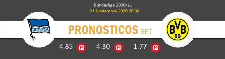 Hertha Berlín vs Borussia Pronostico (21 Nov 2020) 1