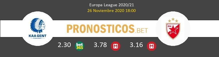 KAA Gent vs Crvena Zvezda Pronostico (26 Nov 2020) 1
