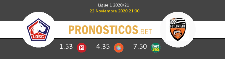 Lille vs Lorient Pronostico (22 Nov 2020) 1