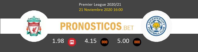 Liverpool vs Leicester Pronostico (21 Nov 2020) 1