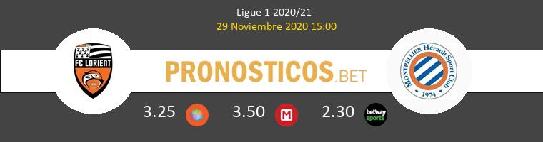 Lorient vs Montpellier Pronostico (29 Nov 2020) 1