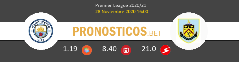 Manchester City vs Burnley Pronostico (28 Nov 2020) 1