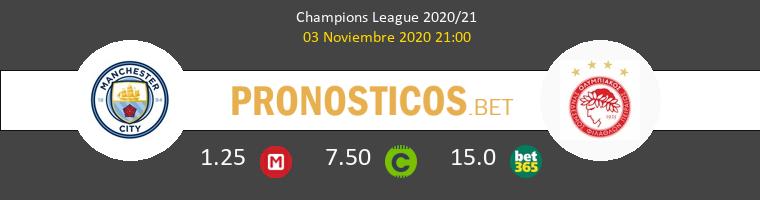 Manchester City vs Olympiacos Piraeus Pronostico (3 Nov 2020) 1