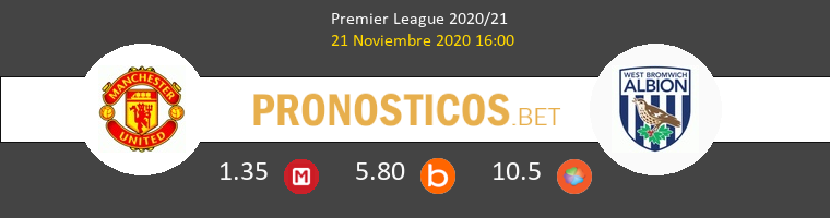 Manchester United vs West Bromwich Albion Pronostico (21 Nov 2020) 1