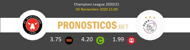 Midtjylland vs Ajax Pronostico (3 Nov 2020) 1