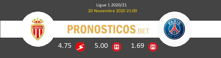 Monaco vs Paris Saint Germain Pronostico (20 Nov 2020) 1