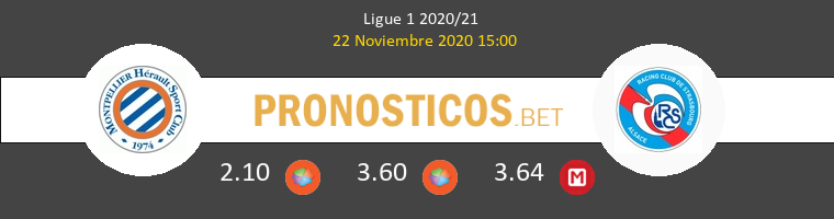 Montpellier vs Strasbourg Pronostico (22 Nov 2020) 1
