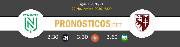 Nantes vs Metz Pronostico (22 Nov 2020) 1