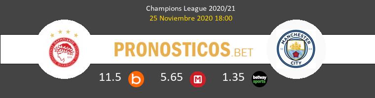 Olympiacos Piraeus vs Manchester City Pronostico (25 Nov 2020) 1