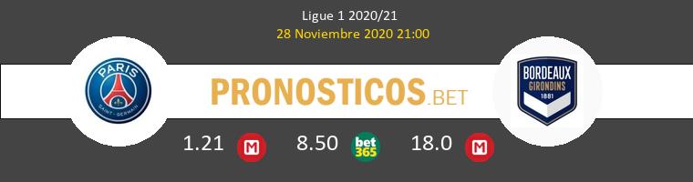 Paris Saint Germain vs Girondins Bordeaux Pronostico (28 Nov 2020) 1