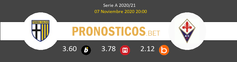 Parma vs Fiorentina Pronostico (7 Nov 2020) 1