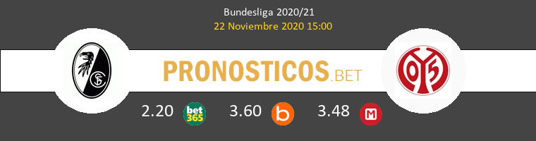 SC Freiburg vs Mainz 05 Pronostico (22 Nov 2020) 1