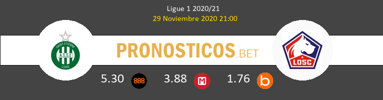 SaintvÉtienne vs Lille Pronostico (29 Nov 2020) 1