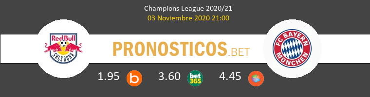 Salzburg vs Bayern Pronostico (3 Nov 2020) 1