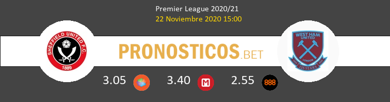 Sheffield United vs West Ham Pronostico (22 Nov 2020) 1