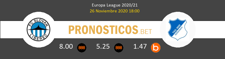 Slovan Liberec vs Hoffenheim Pronostico (26 Nov 2020) 1