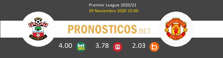Southampton vs Manchester United Pronostico (29 Nov 2020) 1