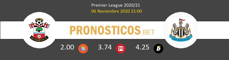 Southampton vs Newcastle Pronostico (6 Nov 2020) 1