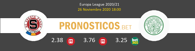 Sparta Praha vs Celtic Pronostico (26 Nov 2020) 1