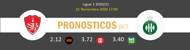 Stade Brestois vs SaintvÉtienne Pronostico (21 Nov 2020) 1