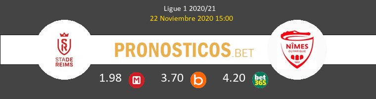 Reims vs Nimes Pronostico (22 Nov 2020) 1