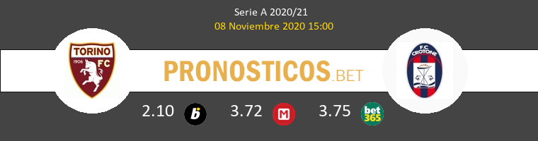 Torino vs Crotone Pronostico (8 Nov 2020) 1