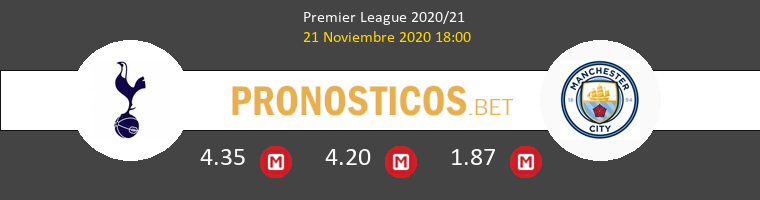 Tottenham Hotspur vs Manchester City Pronostico (21 Nov 2020) 1