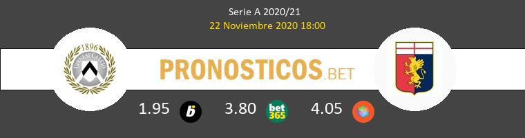 Udinese vs Génova Pronostico (22 Nov 2020) 1