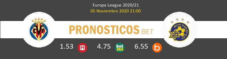 Villarreal vs Maccabi Tel Aviv Pronostico (5 Nov 2020) 1