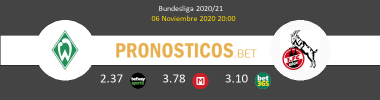 Werder Bremen vs Colonia Pronostico (6 Nov 2020) 1