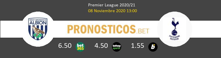 West Bromwich Albion vs Tottenham Hotspur Pronostico (8 Nov 2020) 1