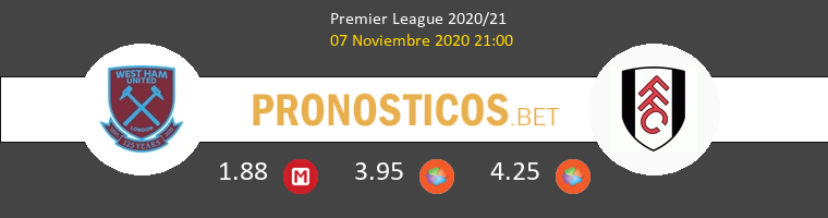 West Ham vs Fulham Pronostico (7 Nov 2020) 1