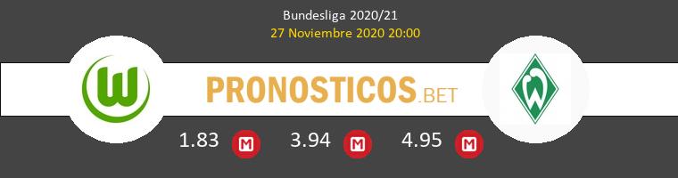 Wolfsburgo vs Werder Bremen Pronostico (27 Nov 2020) 1