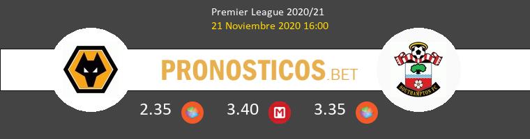 Wolverhampton Wanderers vs Southampton Pronostico (21 Nov 2020) 1