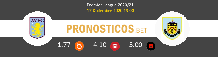 Aston Villa vs Burnley Pronostico (17 Dic 2020) 1