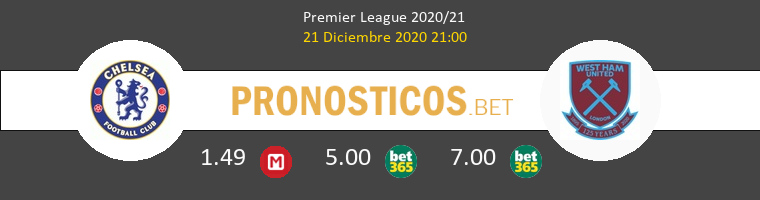 Chelsea vs West Ham Pronostico (21 Dic 2020) 1