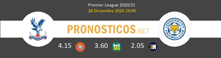 Crystal Palace vs Leicester Pronostico (28 Dic 2020) 1