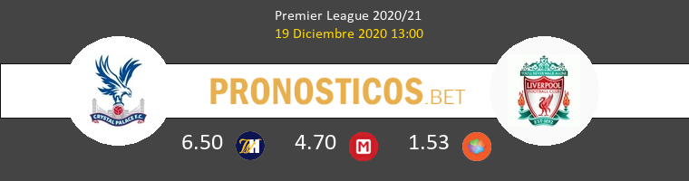 Crystal Palace vs Liverpool Pronostico (19 Dic 2020) 1