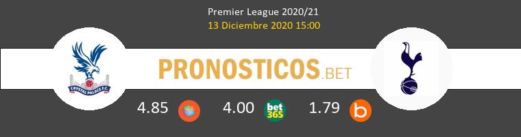 Crystal Palace vs Tottenham Hotspur Pronostico (13 Dic 2020) 1