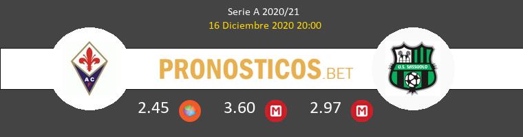 Fiorentina vs Sassuolo Pronostico (16 Dic 2020) 1