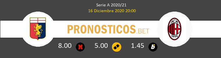 Génova vs Milan Pronostico (16 Dic 2020) 1