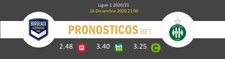 Girondins Bordeaux vs SaintvÉtienne Pronostico (16 Dic 2020) 1