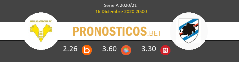 Hellas Verona vs Sampdoria Pronostico (16 Dic 2020) 1