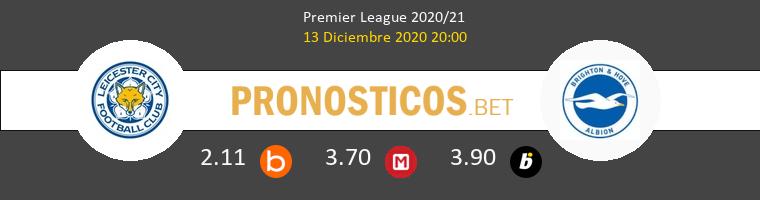 Leicester vs Brighton Hove Albion Pronostico (13 Dic 2020) 1