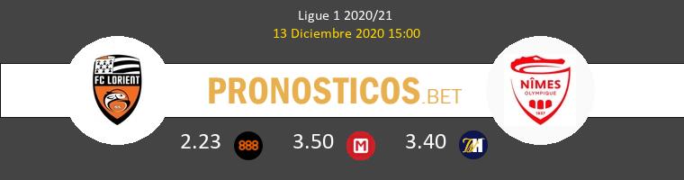 Lorient vs Nimes Pronostico (13 Dic 2020) 1