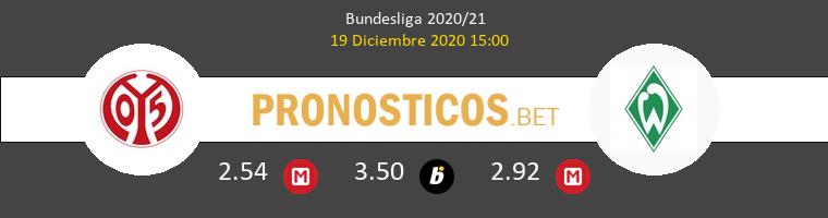 Mainz 05 vs Werder Bremen Pronostico (19 Dic 2020) 1
